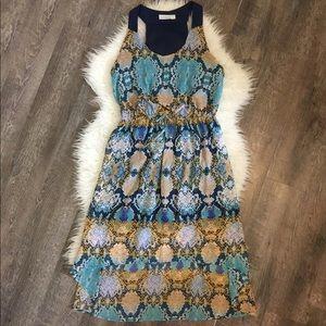 Bisou Bisou sleeveless a-line hi/low dress